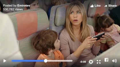 Emirates Airline Jennifer Aniston marketing in the Middle East blog Dubai marketing agency