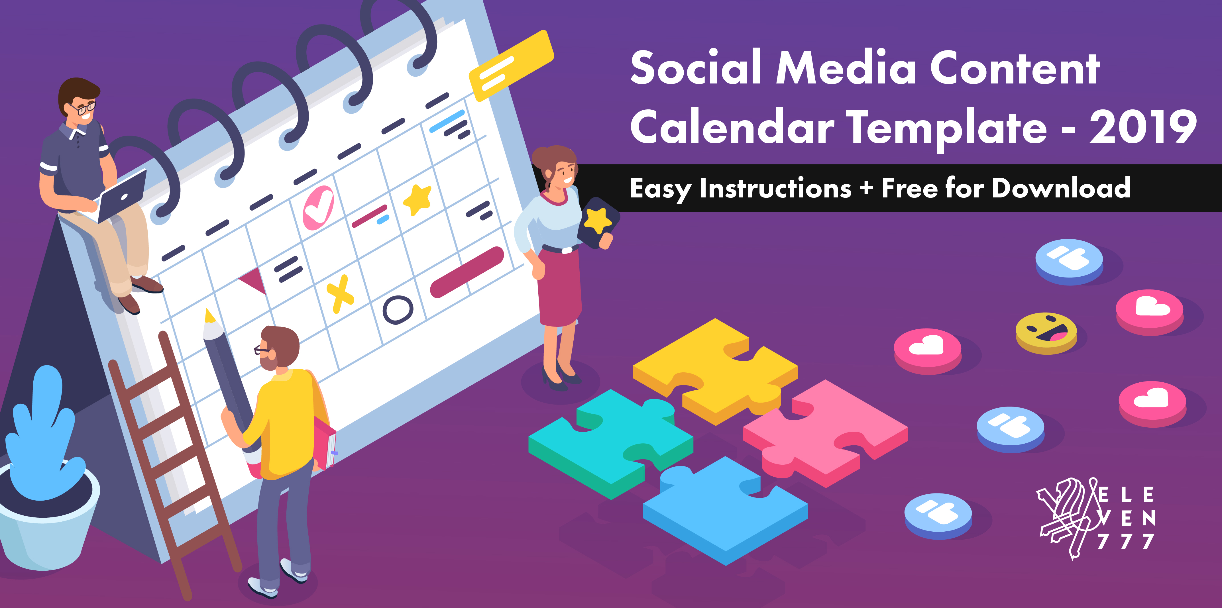 Content Calendar Template 2019.Social Media Calendar Template 2019 For Uae Brands Easy