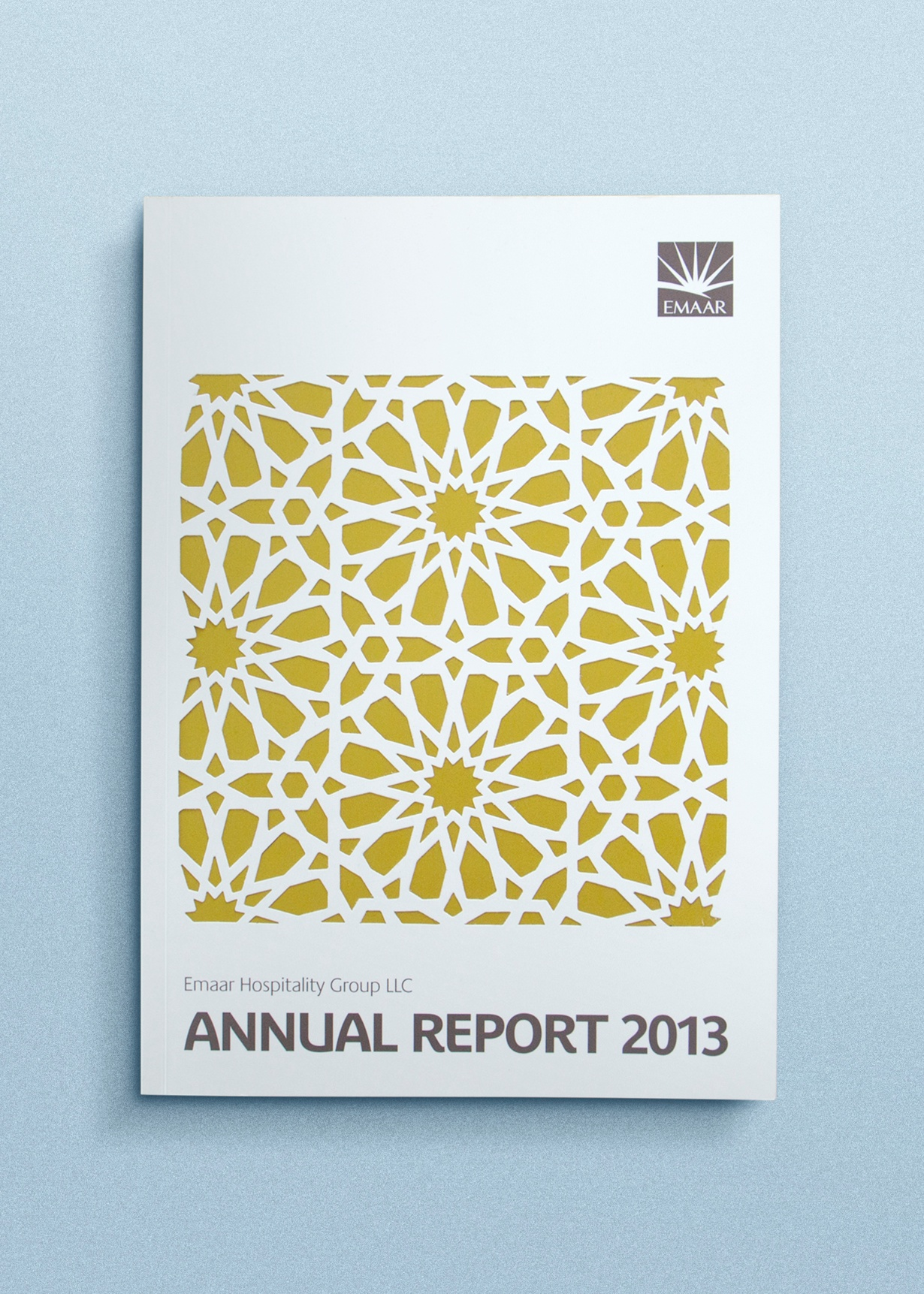 Emaar Hospitality Group - Annual Report 2013 graphic design layouts copywriting
